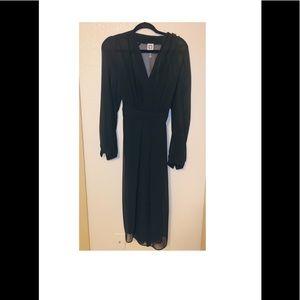 Anne Klein black sheer dress